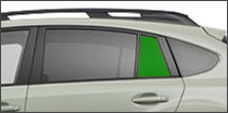 driver side vent back glass