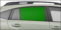 passenger side back glass