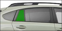 passenger side vent back glass